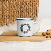 Load image into Gallery viewer, Eucalyptus Wreath Enamel Mug