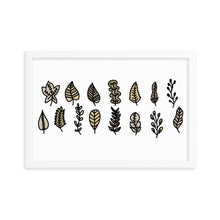 Load image into Gallery viewer, Leaf Collection Framed poster