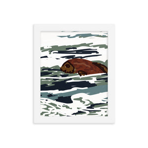 Here Fishy Framed Art