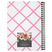 Load image into Gallery viewer, Flora Bicycle Spiral Notebook in Lt. Pink - Artski&Hush