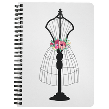 Load image into Gallery viewer, Flora Mannequin Spiral Notebook - Artski&Hush