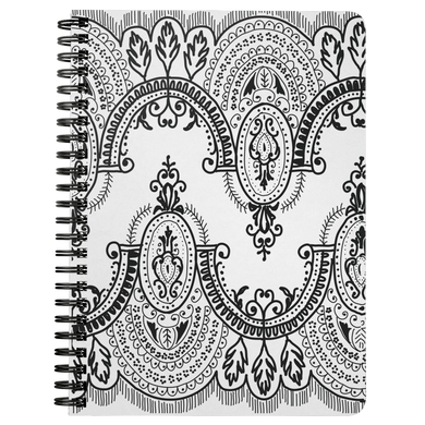 Arched Lace Spiral Notebook
