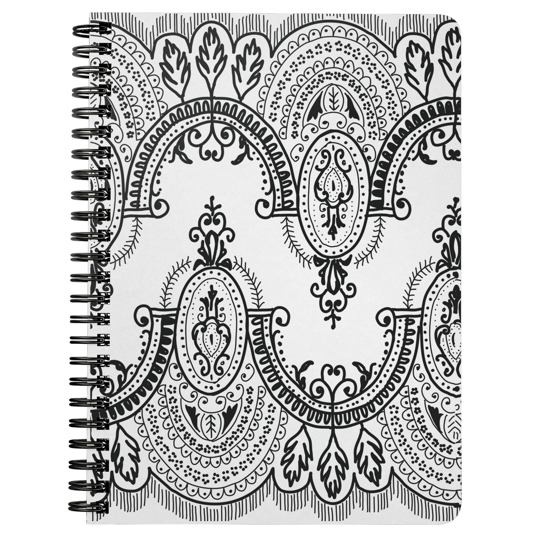 Arched Lace Spiral Notebook - Artski&Hush