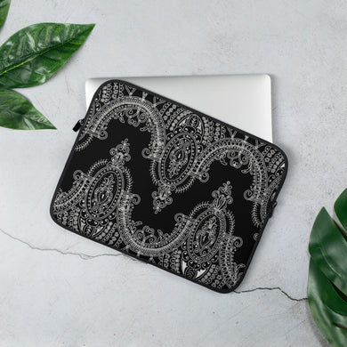 Noir Dual Lace Laptop Sleeve