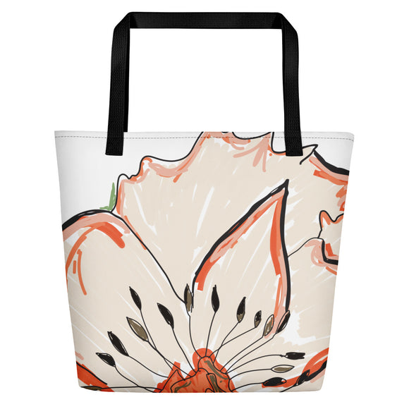 Rustic Flora Beach Toting Bag