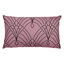 Load image into Gallery viewer, Art Deco Peaks Blush Decorative Throw Pillow Love - Artski&Hush