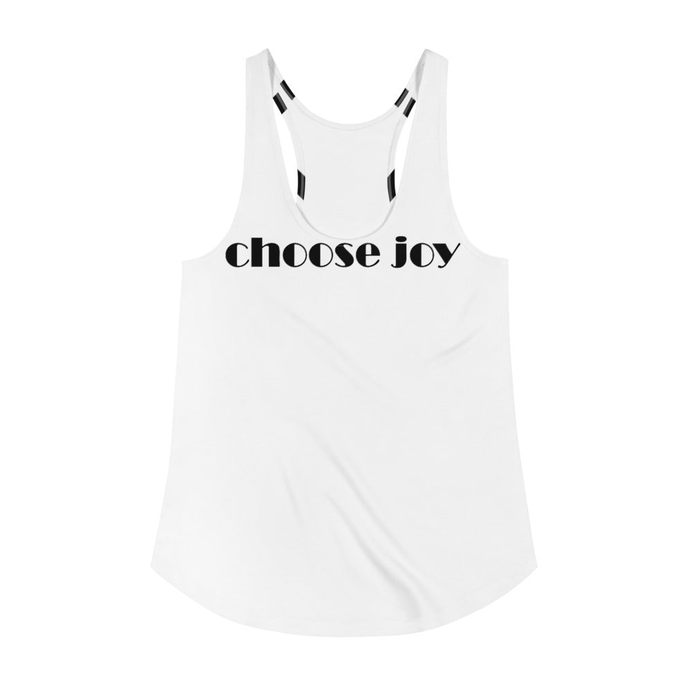 Women's Racerback choose joy Tank - Artski&Hush