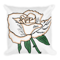 Tufted Rose Throw Pillow