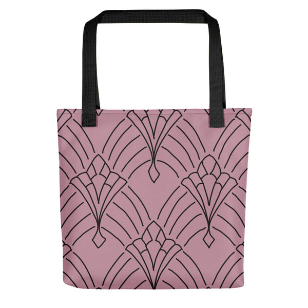 Art Deco Peaks Blush Tote bag