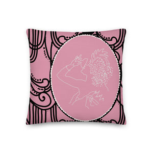 1940's Pink Lady Cocktail Decorative Throw Pillow - Artski&Hush