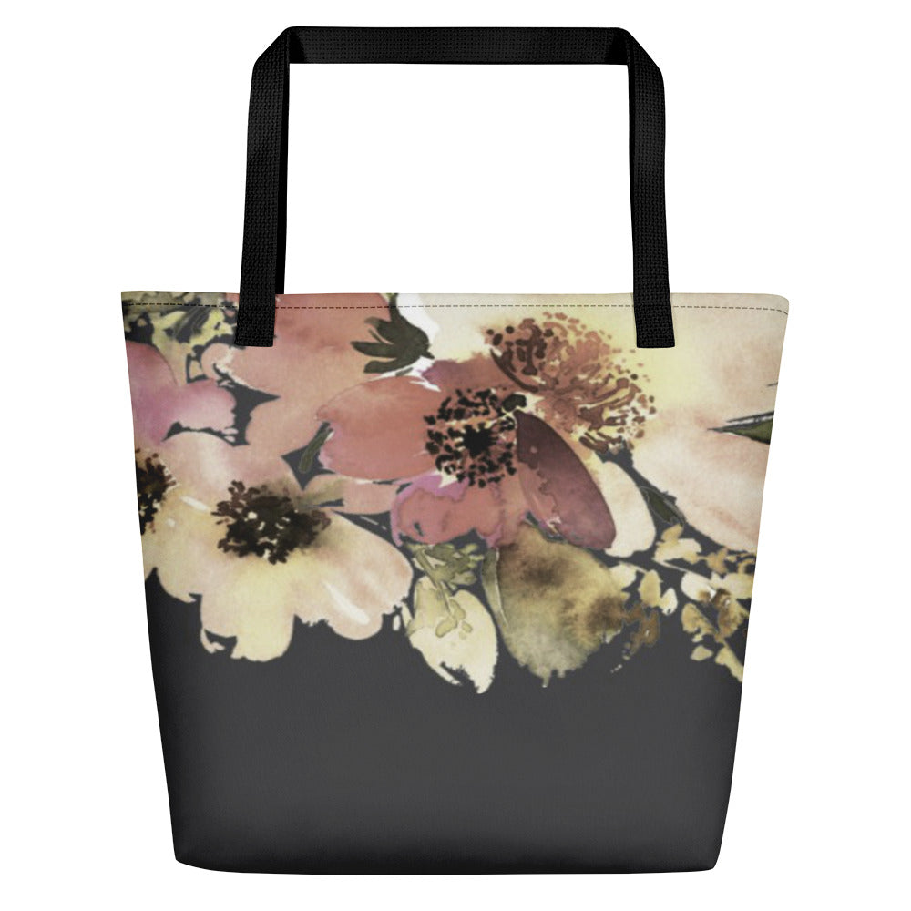 A & H Floral Beach Toting Bag