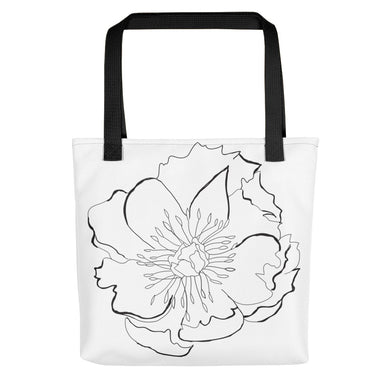 Large B&W Flora Toting Bag - Artski&Hush