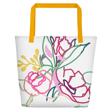 Spring Colorful Gathering Beach Toting Bag - Artski&Hush