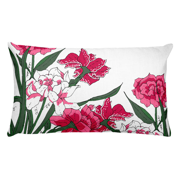 Pink Bushels Throw Pillows