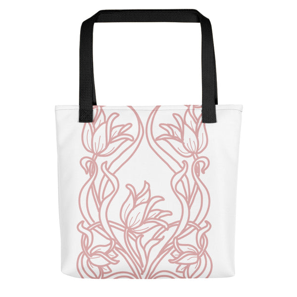 Blush Art Deco Flowers Tote Bag