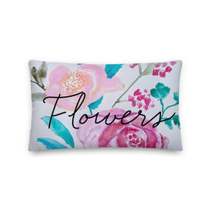 Watercolor Flower Decorative  Throw Pillow - Artski&Hush