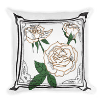 Frame Rose Throw Pillow