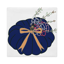Load image into Gallery viewer, Navy Pumpkin Pillow Cover - Artski&Hush
