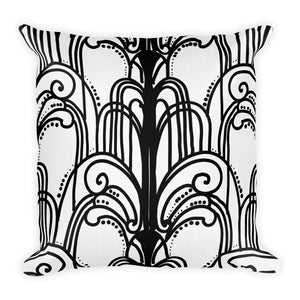 Art Deco Lady Feather Decorative Throw Pillow - Artski&Hush
