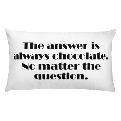 The Answer is Chocolate Decorative Lumbar Throw Pillow - Artski&Hush
