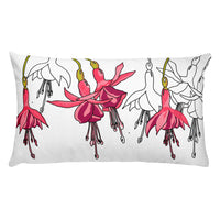 Fuchsias Lumbar Throw Pillow