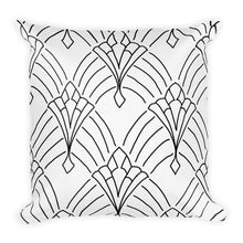 Load image into Gallery viewer, Art Deco Peaks White Decorative Throw Pillow - Artski&Hush