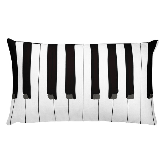 Piano Throw Lumbar Pillow