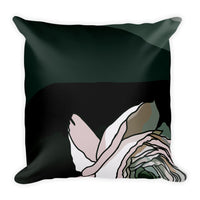 Dramatic Peach Rose Throw Pillows