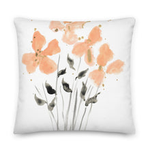 Load image into Gallery viewer, Golden Peach Watercolor Decorative Throw Pillow - Artski&Hush