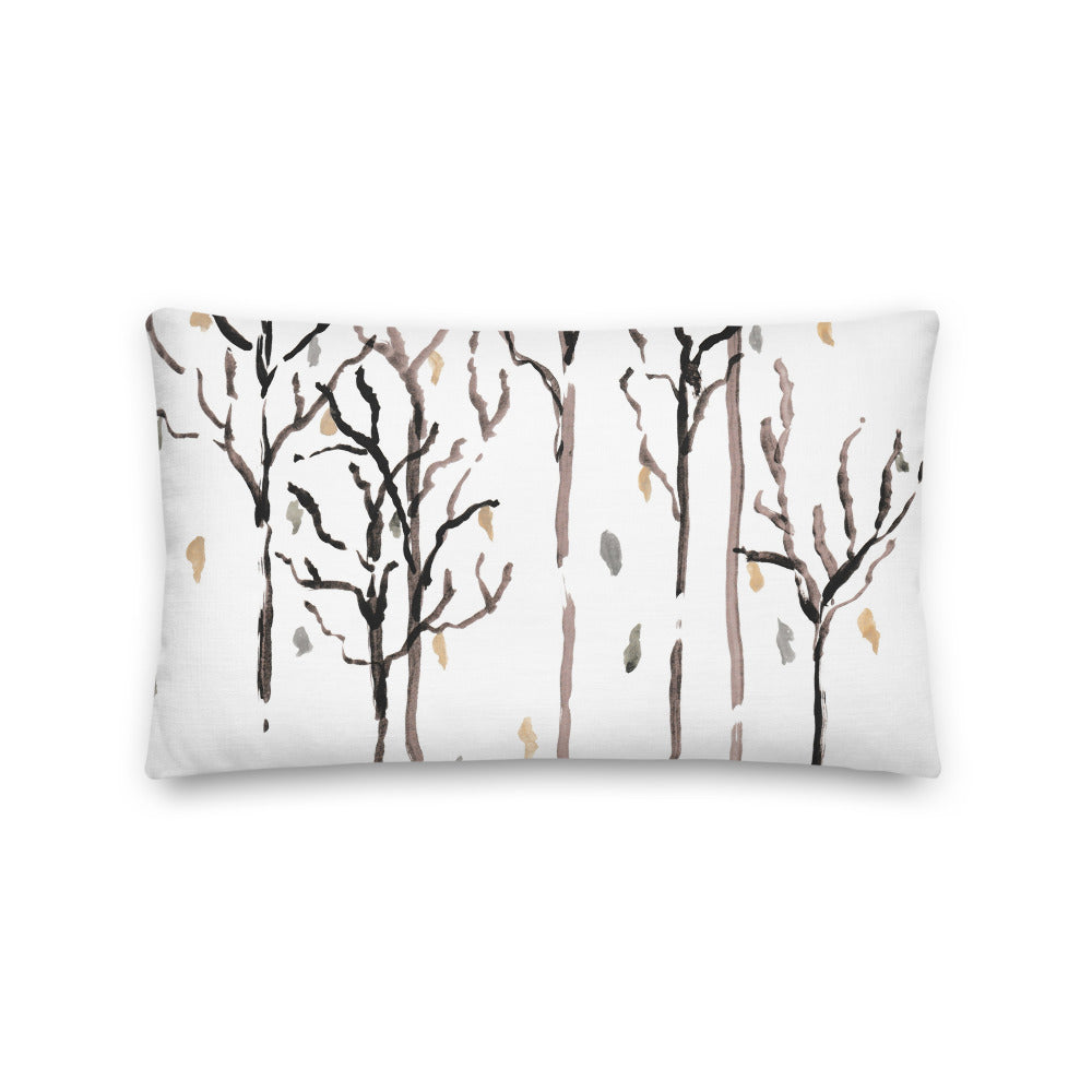 Fall Trees Watercolor Decorative Throw Pillows - Artski&Hush