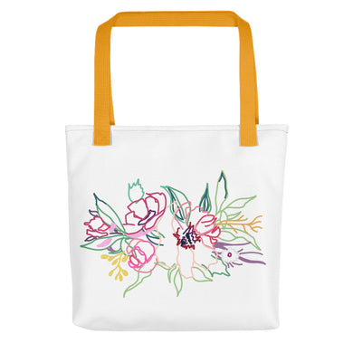 Spring Colorful Gathering Toting bag - Artski&Hush