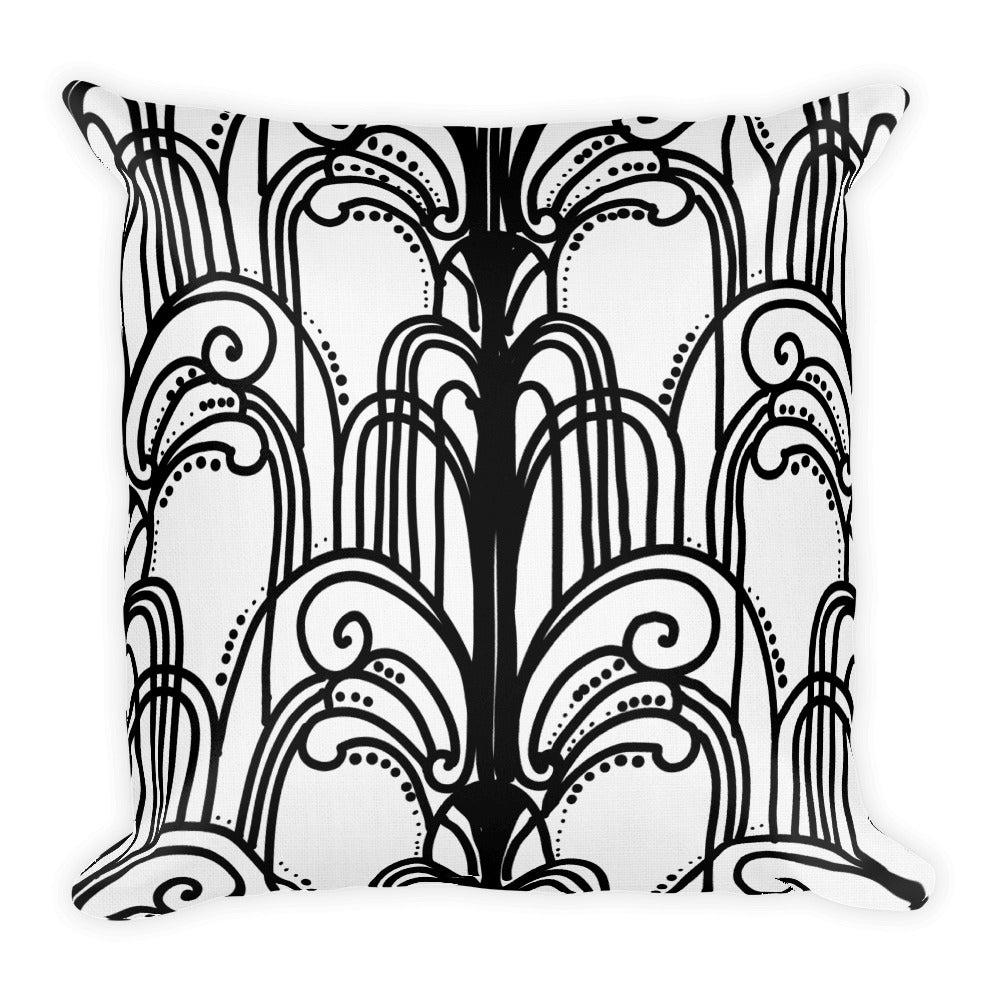 Art Deco Fountains Decorative Throw Pillow - Artski&Hush