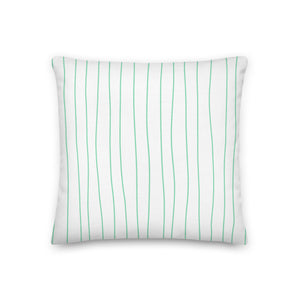 Spring Mint Stripes Decorative Throw Pillows - Artski&Hush