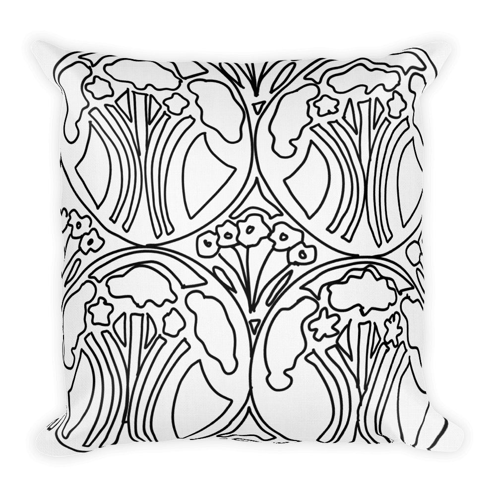 Art Deco Forest Decorative Throw Pillows - Artski&Hush