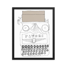 Load image into Gallery viewer, Vintage Typewriter Framed poster - Artski&Hush