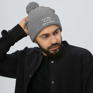 """For the Love of Chocolate"" Pom-Pom Beanie"