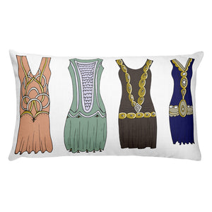 Vintage Dresses Decorative  Lumbar Throw Pillow - Artski&Hush