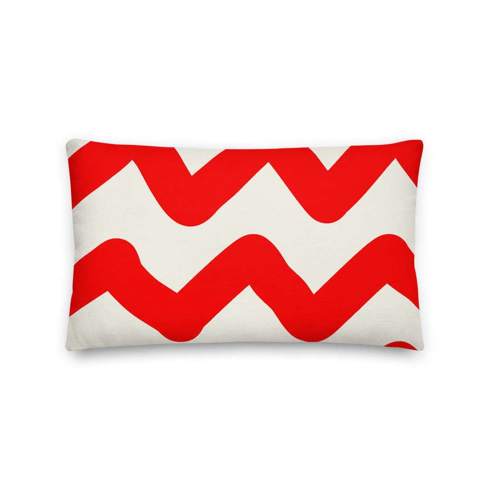 Red Ziggy Decorative Lumbar Pillow