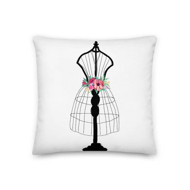 Flora Mannequin Decorative Throw Pillow - Artski&Hush