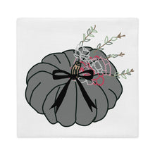 Load image into Gallery viewer, Grey Carnation Pumpkin Pillow Cover - Artski&Hush
