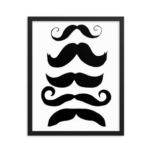 The Mustache Collection Framed poster - Artski&Hush