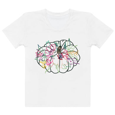 Colorful Gathering White Pumpkin Women's T-shirt - Artski&Hush
