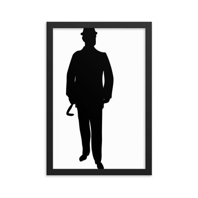 The Gentleman Framed poster - Artski&Hush