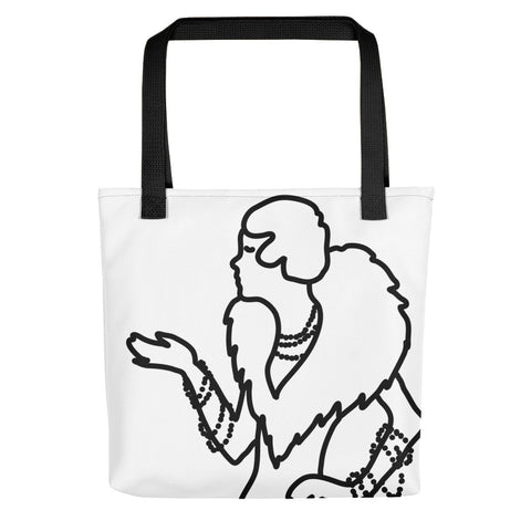 Art Deco Lady Pearls Tote bag