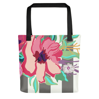 Striped Flora Toting Bag - Artski&Hush