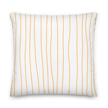Load image into Gallery viewer, Spring Tangerine Stripes Decorative Throw Pillows - Artski&Hush