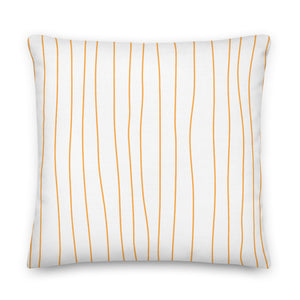 Spring Tangerine Stripes Decorative Throw Pillows - Artski&Hush