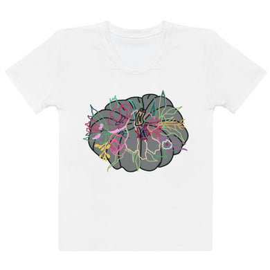 Colorful Gathering Pumpkin Women's T-shirt - Artski&Hush