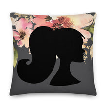 Load image into Gallery viewer, A&H Floral Silhouette Decorative Throw Pillow - Artski&Hush