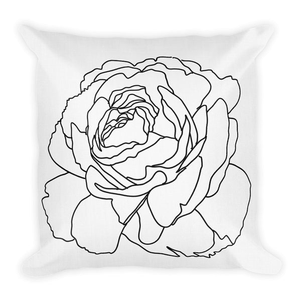 White Rose Throw Pillows